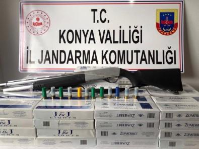Jandarma Uygulamasında Kaçak Sigara Ele Geçirildi
