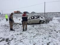 Erzurum'da Trafik Kazası Açıklaması 1 Ölü, 2 Yaralı