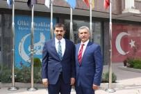 GURBETÇI - Fransa Türk Federasyonu, Ülkü Ocakları Genel Başkanı Ateş'i Ziyaret Etti