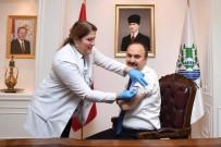 EDİRNE - Edirne Valisi Canalp Aşı Oldu