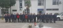 JANDARMA KOMUTANLIĞI - İlçe Jandarma Komutanlığı'nda Yangın Söndürme Tatbikatı