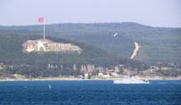 MARMARA DENIZI - Fransız Mayın Avlama Gemisi Çanakkale Boğazı'ndan Geçti