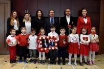 ÖĞRENCİLER - Çocuklardan Başkan Ataç'a 23 Nisan Ziyareti