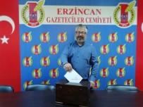 İSTIKLAL MARŞı - Erzincan Gazeteciler Cemiyeti Başkanlığına Muzaffer Koşan Seçildi