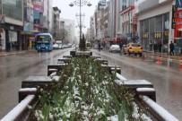 KARLA MÜCADELE - Nisan Ayında Kar Van'ı Beyaza Bürüdü