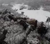 Karlıova'da Kar Etkili Oluyor