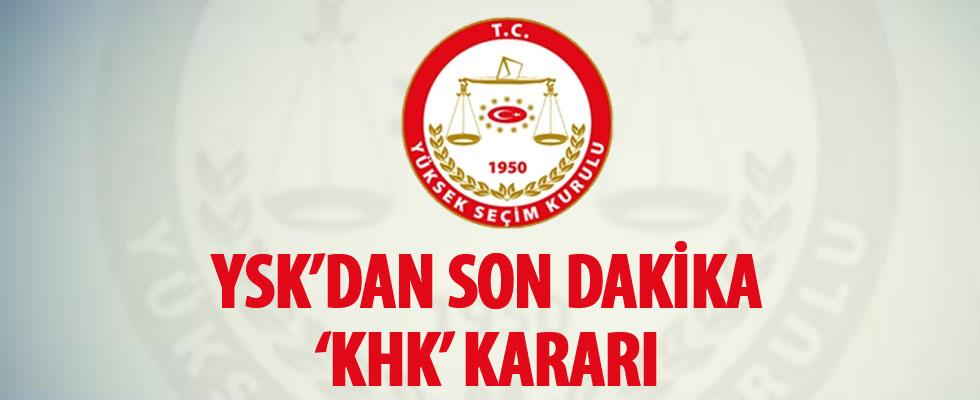 YSK'dan AK Parti'nin itirazına ret: KHK ile ihraç edilenler oy kullanabilir