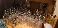 POLİS EKİPLERİ - Isparta'da Sahte İçki Üretimi Yapılan Evden Cephanelik Çıktı
