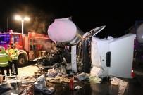 Bolu TEM Otoyolunda Tır Kazası Açıklaması 1 Yaralı