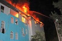 KEMER BELEDİYESİ - Kemer'de Otelin Personel Lojmanında Yangın