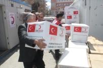 YARDIM MALZEMESİ - Kızılay'dan Afetzedelere Yardım Malzemesi