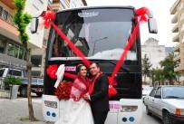 SERVİS ŞOFÖRÜ - (Özel) Servis Otobüsünü Gelin Arabası Yaptı