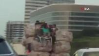 Aşırı Yüklü Kamyonda Ölümüne Yolculuk Kamerada