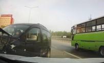 D100 KARAYOLU - 6 aracın birbirine girdiği kaza kamerada!