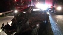 Ümraniye'de Zincirleme Trafik Kazası; 1 Yaralı