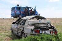 Aksaray'da Otomobil Şarampole Devrildi Açıklaması 4 Ağır Yaralı