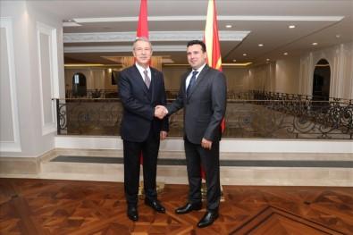 Bakan Akar, Kuzey Makedonya Başbakanı Zaev İle Görüştü