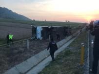 Denizli'de Otobüs Kazası Açıklaması 2 Ölü, 20'Ye Yakın Yaralı