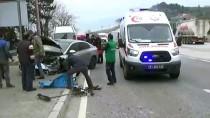 ÇORUH - Düzce'de Trafik Kazası Açıklaması 2 Yaralı