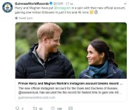 GUINNESS REKORLAR KITABı - Prens Harry Ve Düşes Meghan'ın Instagram Hesabı Dünya Rekoru Kırdı