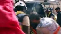 ROKET SALDIRISI - Esed Rejiminin İdlib'e Saldırıları Sürüyor