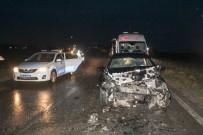İLKAY - Tekirdağ'da Otomobiller Kafa Kafaya Çarpıştı Açıklaması 5 Yaralı