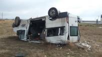 Aksaray'da Minibüs Devrildi Açıklaması 1 Yaralı