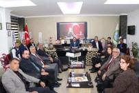 Yeni Başkan Makamında Rakip Adayı Ve İlçe Teşkilatını Ağırladı