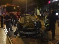 ÇıTAK - Makas Atarken Kontrolden Çıkan Otomobil Takla Attı Açıklaması 3 Yaralı