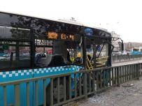 OTOBÜS ŞOFÖRÜ - Halk Otobüsü Korkuluklara Çarptı Açıklaması 10 Yaralı