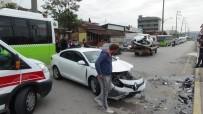 İki Otomobil Kafa Kafaya Çarpıştı Açıklaması 2 Yaralı