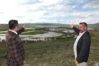 YAĞAN - Malazgirt'te Şiddetli Yağış Ekili Alanlara Zarar Verdi