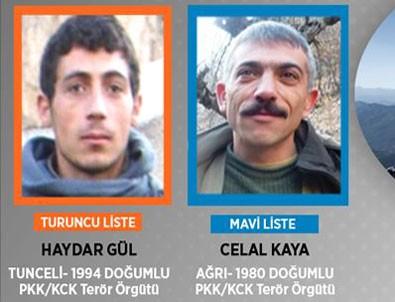 PKK'ya ağır darbe! Biri mavi, diğeri turuncu kategoride aranıyordu