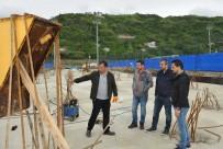 TÜRKIYE SPOR YAZARLARı DERNEĞI - TSYD Trabzon Şubesi, Çift Yönlü Tribün İnşaatını İnceledi