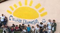 Köy Okulunu Boyattılar, Çizgi Film Karakterleriyle Süslediler