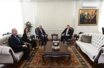 Ziya Selçuk - Rektör Prof. Dr. Mazhar Bağlı, Milli Eğitim Bakanı Ziya Selçuk'u Ziyaret Etti