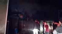 Samanlık Yangınında 10 Hayvan Telef Olmaktan Kurtarıldı