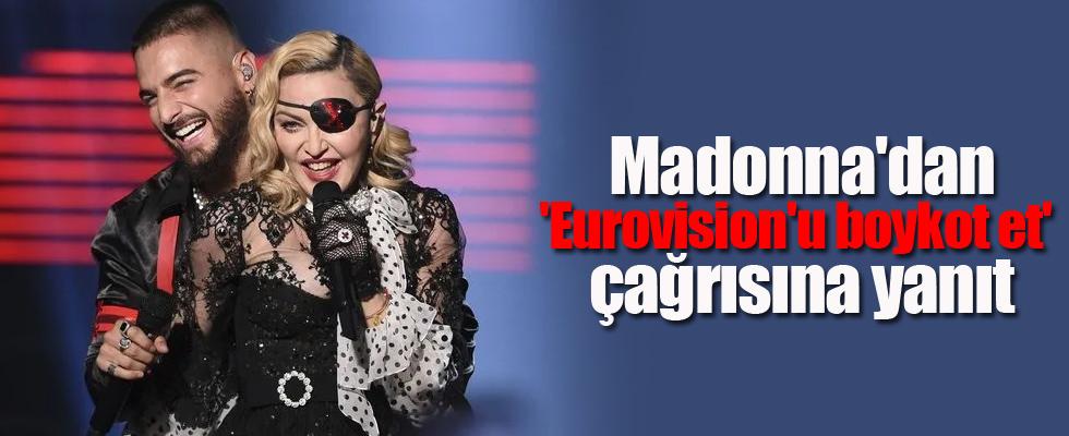 Madonna'dan 'Eurovision'u boykot et' çağrısına yanıt