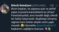 GENÇ FENERBAHÇELİLER - Bilecik Belediyesinin Paylaşımı Fenerbahçe Taraftarlarının Tepkilerine Neden Oldu