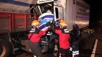 Bolu'da Kamyonlar Çarpıştı Açıklaması 1 Yaralı