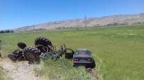 Diyarbakır'da Otomobil Traktöre Çarptı Açıklaması 3 Yaralı