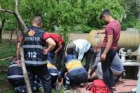 Ayağını Tarım Aletine Kaptıran Vatandaş Hastaneye Kaldırıldı
