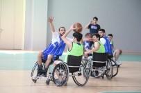 TEKERLEKLİ SANDALYE BASKETBOL - Basketler Empati İçin Atıldı