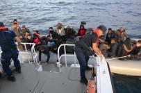 KAÇAK GÖÇMEN - Kuşadası Körfezi'nde 14'Ü Çocuk 47 Kaçak Göçmen Yakalandı