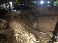 DOĞALGAZ PATLAMASI - Başkent'te Çöken Bariyerler Doğalgaz Borusunu Patlattı