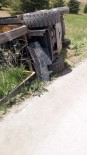 AYDOĞAN - Forkliftin Altına Kalan İşçi Yaralandı