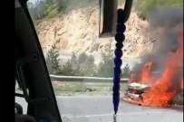 HIKMET ŞAHIN - Zigana'da Korkutan Araç Yangını