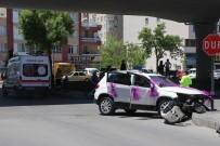GÜVENLİK ÖNLEMİ - (Özel) Gelin Almaya Giden Cip, Otomobile Çarptı Açıklaması Damatla Beraber 5 Yaralı