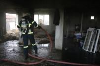 Bolu'da Apartman Deposunda Yangın