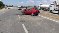 Konya'da İki Otomobil Çarpıştı Açıklaması 8 Yaralı